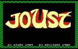 Joust Atari 7800 Title screen