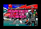 Chuck Yeager's Advanced Flight Simulator Amstrad CPC Title screen