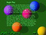 Goofy Golf Deluxe Windows One of the game's help screens
