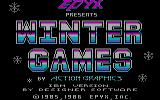 Winter Games PC Booter Title screen