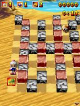 3D Bomberman Atomic J2ME About to pick up a power up