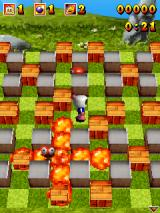 3D Bomberman Atomic J2ME The enemy got caught in the explosion