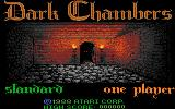 Dark Chambers Atari 7800 Title screen