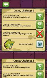 Where's My Water? Android Cranky's challenges list