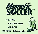 Magnetic Soccer Game Boy Title screen and main menu