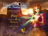 Samantha Swift and the Fountains of Fate Macintosh Main menu