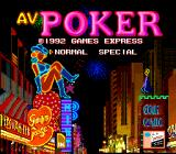 AV Poker TurboGrafx-16 Title screen
