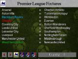 Football Masters 99 DOS Premier League Fixtures