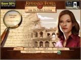 Rhianna Ford & The Da Vinci Letter iPad Title / main menu