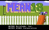 Mean 18 Atari 7800 Title screen