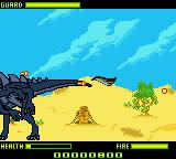 Godzilla: The Series - Monster Wars Game Boy Color Tail whipping a jet out of the air