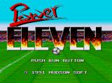 Power Eleven TurboGrafx-16 Title Screen