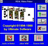 Real Video Poker Windows 3.x Startup / Launcher (Version 5.0)