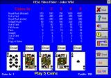 Real Video Poker Windows 3.x Joker's Wild (Version 5.0) Mode 1 (small)