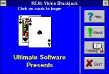 Real Video Blackjack Windows 3.x Real Video Blackjack (Version 5.0) startup title screen 1