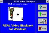 Real Video Blackjack Windows 3.x Real Video Blackjack (Version 5.0) startup title screen 2