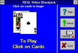 Real Video Blackjack Windows 3.x Real Video Blackjack (Version 5.0) startup title screen 4