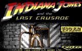 Indiana Jones and the Last Crusade: The Action Game DOS Title Screen