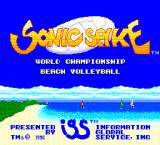 Sonic Spike TurboGrafx-16 Title screen