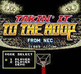 Takin' It to the Hoop TurboGrafx-16 Title screen and menu