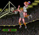 Takin' It to the Hoop TurboGrafx-16 If you're close enough to the basket, a throw will let the switch to this screen to determine whether your dunk is successful.