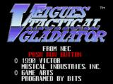 Veigues: Tactical Gladiator TurboGrafx-16 Title Screen