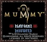 The Mummy Game Boy Color Title screen