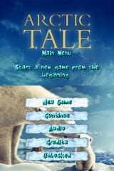 Arctic Tale Nintendo DS Title Screen and Main Menu.