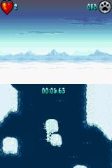 Arctic Tale Nintendo DS You can also travel on an ice flow -- hit too many obstacles, and your ice will melt. Hope you enjoy swimming...