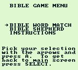 King James Bible For Use On Game Boy Game Boy Select which Bible game to play.