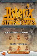 Asterix at the Olympic Games Nintendo DS Sound Options