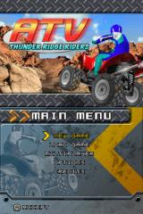 ATV: Thunder Ridge Riders / Monster Trucks Mayhem Nintendo DS ATV: Thunder Ridge Riders Title/Menu