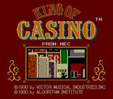 King of Casino TurboGrafx-16 Title Screen