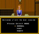 King of Casino TurboGrafx-16 Reception where you pick your mode