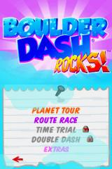 Boulder Dash Rocks! Nintendo DS Main Menu