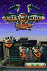 Biker Mice from Mars Nintendo DS Title/File Select