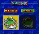 Kōshien 3 SNES Choice between two stadiums