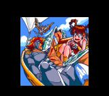 Mamono Hunter Yōko: Tooki Yobigoe TurboGrafx CD The heroes on a flying ship