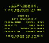 Tower Toppler NES Credits