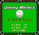 Jimmy White's Cueball Game Boy Color Title Screen