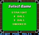 Jimmy White's Cueball Game Boy Color Select game