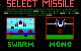 Veritech: Variable Fighter Simulator DOS Select missile type.
