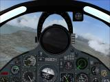 Combat Collectors: Second Edition Windows The default view straight ahead in the F-8 Crusader's virtual cockpit.
