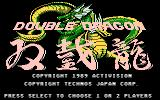 Double Dragon Atari 7800 Title screen