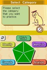 Big Brain Academy Nintendo DS You can practice exercises in five individual categories.