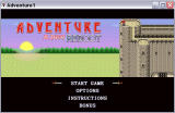 Adventure 2600 Reboot Windows Title screen and main menu