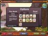 Mahjong Towers Eternity Windows The Options screen. There are eleven tile sets, assorted background pictures and three game types.