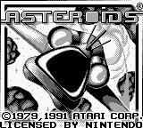 Asteroids Game Boy Title Screen