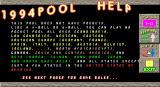 1994Pool+ DOS Help page 1 of 12.