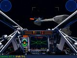Star Wars: X-Wing (Collector's CD-ROM) Windows Attacking the enemy frigate.